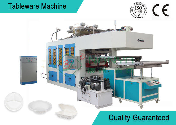 Eco friendly Bamboo Fiber Paper Plate Tableware Making Machine / Pulp Moulding Equipment