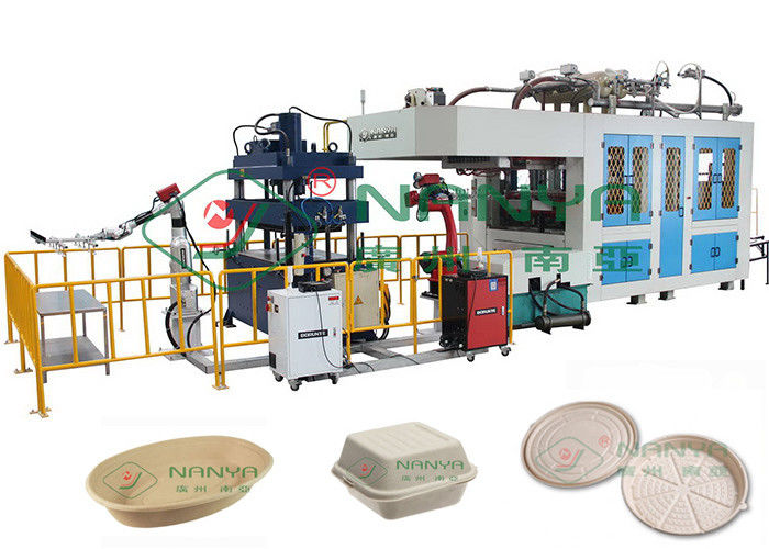 300Kg/H Biodegradable Pulp Molding Tableware Equipment  40 Ton Pressure