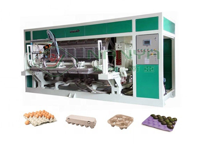 6000 pcs/hr Automatic Rotary Egg Tray / Egg Box Molding Equipment