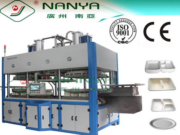 Fast Food Box / Disposable Tableware Making Machine Drying in Mould 7000Pcs / H
