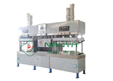 China Small Manual Paper Plate Making Machine 12 Months Warranty Drying In Molds factory