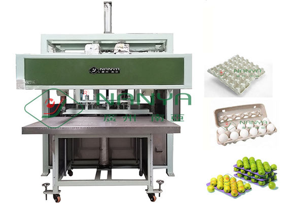 Auto Reciprocating Egg Tray / Pulp Molding Egg Carton Machine 1000pcs/H