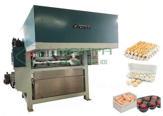 2200Pcs/H Paper Egg Carton / Egg Tray Making Machine Pulp Molded Line