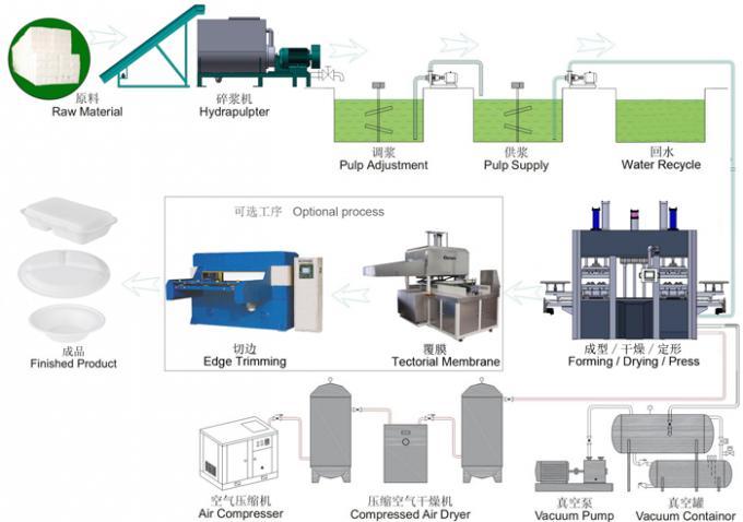 Disposable Bagasse Sugarcane Fiber Paper Pulp Tableware Machinery